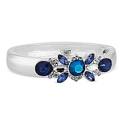 Butterfly by Matthew Williamson - Designer tonal blue crystal cluster bracelet