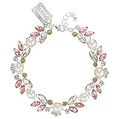 Butterfly by Matthew Williamson - Pearl and crystal cluster bracelet