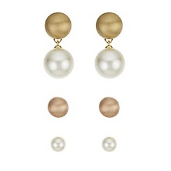 Principles by Ben de Lisi - Designer pearl earrings set