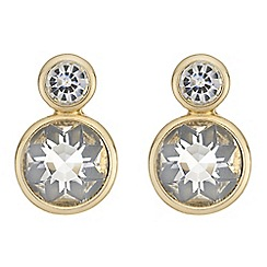 Principles by Ben de Lisi - Designer double crystal drop earrings