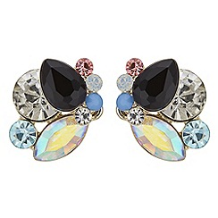 Principles by Ben de Lisi - Designer crystal cluster stud earrings
