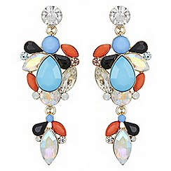 Principles by Ben de Lisi - Designer crystal cluster drop earrings