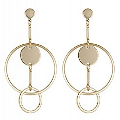 Principles by Ben de Lisi - Designer circle link earrings
