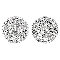 Principles by Ben de Lisi - Designer pave disc stud earrings