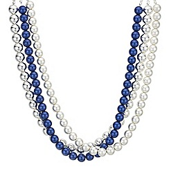 Principles by Ben de Lisi - Designer pearl multi row necklace