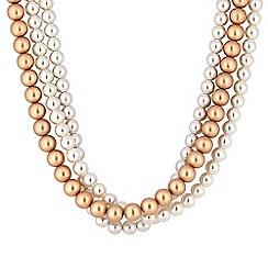 Principles by Ben de Lisi - Designer pearl multi row necklace