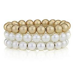 Principles by Ben de Lisi - Designer pearl cream bracelet set