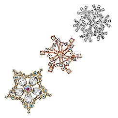 Red Herring - Crystal star brooch set