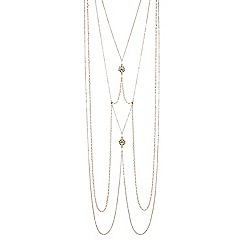 Red Herring - Gold floral body chain necklace