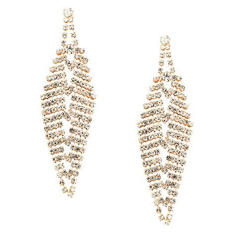 Red Herring - Diamante crystal chandelier earring