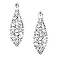 Statement aurora borealis oval crystal stone drop earring