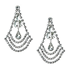 Red Herring - Diamante crystal teardrop chandelier earring