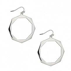 Red Herring - Octagon cut out disc earring