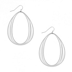Red Herring - Oversized oval disc earring