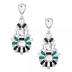 Red Herring - Statement boutique facet stone chandelier earring