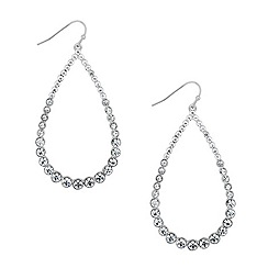 Red Herring - Crystal teardrop chandelier earring