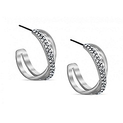 Red Herring - Crystal twisted hoop earring