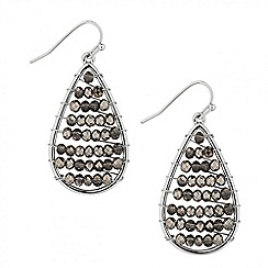 Red Herring - Facet bead teardrop earring