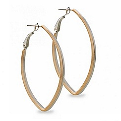 Red Herring - Mixed metal teardrop hoop earring