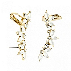 Red Herring - Set of two crystal navette ear cuffs