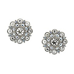 Red Herring - Crystal flower burst stud earring