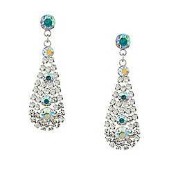 Red Herring - Aurora borealis diamante teardrop earring