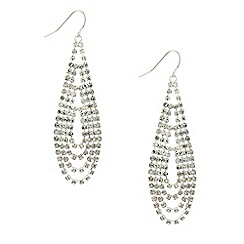 Red Herring - Diamante crystal long loop earring