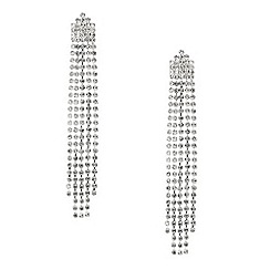Red Herring - Diamante crystal shower drop earring