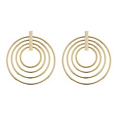 Red Herring - Multi circular gold hoop earring