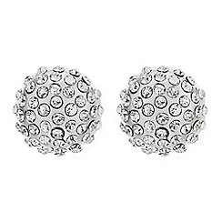 Red Herring - Crystal embellished silver dome stud earring