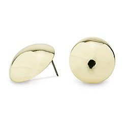 Red Herring - Polished gold dome stud earring