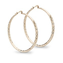 Red Herring - Large rose gold textured hoop earring