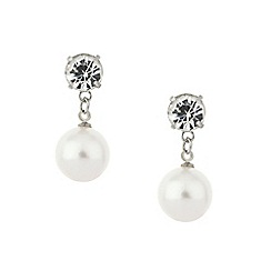 Red Herring - Crystal and pearl drop earring