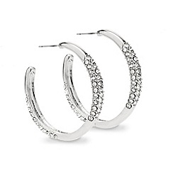 Red Herring - Polished and crystal embellished hoop earring