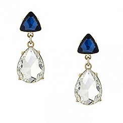 Red Herring - Blue triangular teardrop earring