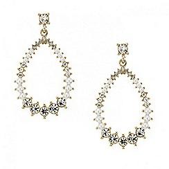 Red Herring - Pearl and crystal open teardrop earring