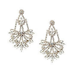 Red Herring - Statement diamante and navette chandelier earring