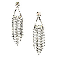 Red Herring - Aurora borealis diamante shower drop earring