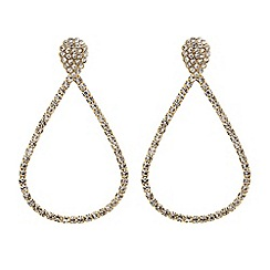 Red Herring - Diamante crystal encased teardrop earring