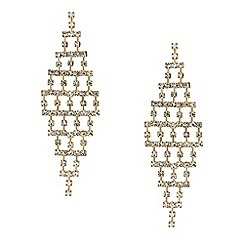 Red Herring - Diamante crystal grid chandelier earring