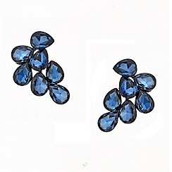 Red Herring - Blue teardrop cluster stud earring