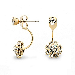 Red Herring - Round crystal surround swing earring