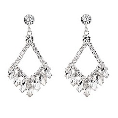 Red Herring - Diamond shaped navette drop earring