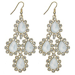 Red Herring - White opalesque chandelier earring
