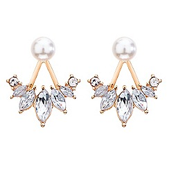 Red Herring - Pearl and navette crystal swing earring
