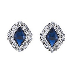 Red Herring - Blue stone crystal surround stud earring