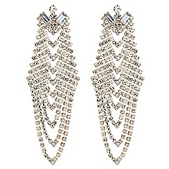 Red Herring - Diamante crystal chevron style drop earring