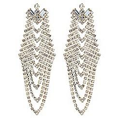 Red Herring - Diamante crystal chevron style drop earring