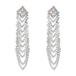 Red Herring - Aurora borealis diamante looping chandelier earring