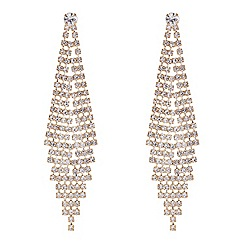 Red Herring - Gold diamante graduating chandelier earring